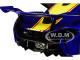 McLaren P1 GTR #23 Metallic Blue Yellow Stripe 1/18 Model Car Autoart 81542