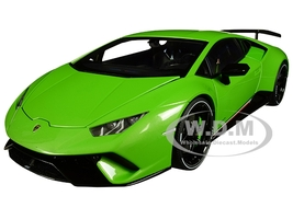 Lamborghini Huracan Performante Verde Mantis Pearl Effect Green Black Wheels 1/18 Model Car Autoart 79154