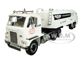 1959 International DCOF-405 Tractor Tanker Trailer Phillips 66 Aviation White American Historical Trucks Series 1/43 Diecast Model Iconic Replicas 43-0137