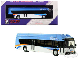 New Flyer Xcelsior CNG OCTA Transit Bus Orange County Transportation Authority Blue 1/87 Diecast Model Iconic Replicas 87-0082