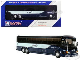 MCI D4505 Coach Transit Bus Greyhound San Francisco Blue 1/87 Diecast Model Iconic Replicas 87-0121