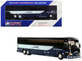 MCI D4505 Coach Transit Bus Greyhound Atlantic City Blue 1/87 Diecast Model Iconic Replicas 87-0122