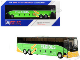 Van Hool CX-45 Motorcoach Transit Bus FlixBus Los Angeles Green 1/87 Diecast Model Iconic Replicas 87-0128