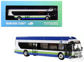 New Flyer Xcelsior CNG Transit Bus 305 Miami-Dade County 1/87 Diecast Model Iconic Replicas 87-0134