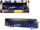 MCI D45 CRT LE Commuter Coach Transit Bus x37 Midtown MTA New York City Transit Blue 1/87 Diecast Model Iconic Replicas 87-0136