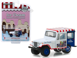 1975 Jeep DJ-5 Ice Cream Truck Hobby Exclusive 1/64 Diecast Model Car Greenlight 30005