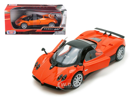 Pagani Zonda F Orange Silver Wheels 1/24 Diecast Model Car Motormax 73369
