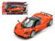 Pagani Zonda F Orange Silver Wheels 1/24 Diecast Model Car Motormax 73369