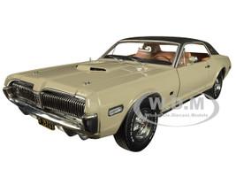 1968 Mercury Cougar XR7G Fawn Beige Black Top 1/18 Diecast Model Car SunStar 1572