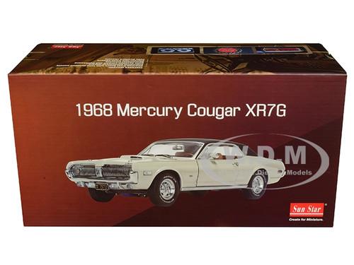1968 MERCURY COUGAR XR7G FAWN BEIGE 1//18 DIECAST MODEL CAR BY SUNSTAR 1572