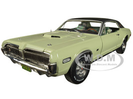 1968 Mercury Cougar XR7G Seafoam Green Black Top 1/18 Diecast Model Car SunStar 1573