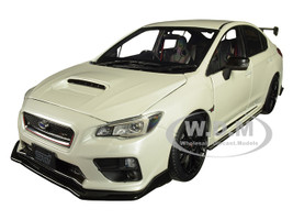 Subaru S207 NBR Challenge Package RHD Right Hand Drive Crystal White Pearl 1/18 Diecast Model Car SunStar 5554