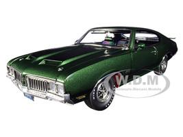 1970 Oldsmobile 442 W-30 Sherwood Green Metallic Black Stripes Limited Edition 360 pieces Worldwide 1/18 Diecast Model Car ACME A1805612
