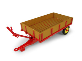 Massey Ferguson 3Ton Tipping Bed Drop Sides Trailer 1/32 Diecast Model Universal Hobbies UH5329