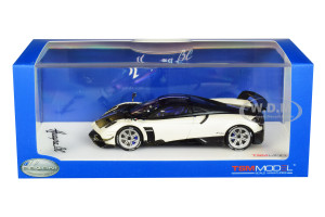 Pagani Huayra BC Matt White Carbon Top 1/43 Model Car True Scale Miniatures 430117