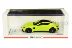 2018 Aston Martin Vantage Green Lime Essence Carbon Top 1/43 Model Car True Scale Miniatures 430310