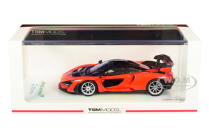 McLaren Senna Mira Orange Black Top 1/43 Model Car True Scale Miniatures 430395