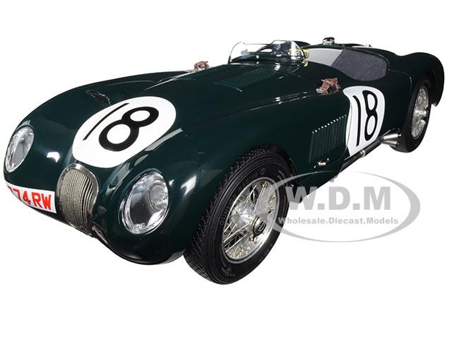 Jaguar C-Type #18 Tony Rolt Duncan Hamilton Jaguar Racing Team Winners 24 Hours Le Mans France 1953 Limited Edition 1500 pieces Worldwide 1/18 Diecast Model Car CMC 195