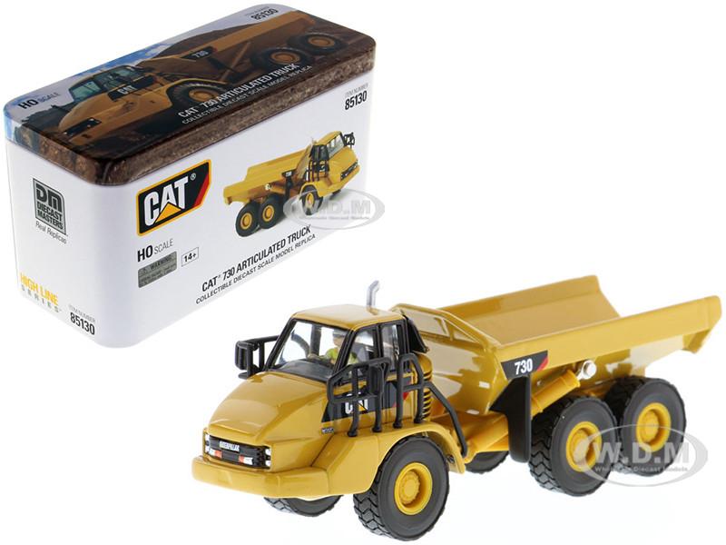 CAT Caterpillar 730 Articulated Dump Truck Operator High Line Series 1/87 HO Scale Diecast Model Diecast Masters 85130