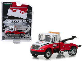 International Durastar Tow Truck White Red IndyCar Series Hobby Exclusive 1/64 Diecast Model Car Greenlight 30032