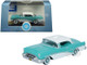 1955 Buick Century Turquoise Polo White 1/87 HO Scale Diecast Model Car Oxford Diecast 87BC55001