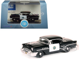 1955 Buick Century California Highway Patrol CHP Black 1/87 HO Scale Diecast Model Car Oxford Diecast 87BC55003