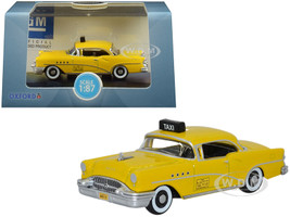 1955 Buick Century New York City Taxi Yellow 1/87 HO Scale Diecast Model Car Oxford Diecast 87BC55004
