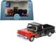 1965 Chevrolet C10 Stepside Pickup Truck Black Flames Hot Rod 1/87 HO Scale Diecast Model Car Oxford Diecast 87CP65004