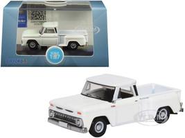 1965 Chevrolet C10 Stepside Pickup Truck White 1/87 HO Scale Diecast Model Car Oxford Diecast 87CP65005