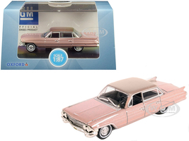 1961 Cadillac Sedan DeVille Metallic Pink 1/87 HO Scale Diecast Model Car Oxford Diecast 87CSD61001