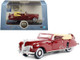 1941 Lincoln Continental Convertible Maroon 1/87 HO Scale Diecast Model Car Oxford Diecast 87LC41001