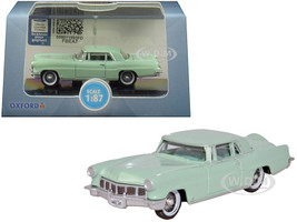 1956 Lincoln Continental Mark II Summit Green 1/87 HO Scale Diecast Model Car Oxford Diecast 87LC56003