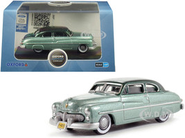 1949 Mercury Coupe Metallic Green Dark Green Top 1/87 HO Scale Diecast Model Car Oxford Diecast 87ME49001