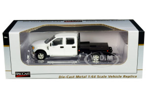 Ford F-250 Truck Flatbed White 1/64 Diecast Model Car SpecCast 52602