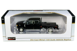 Ford F-250 Truck Flatbed Black 1/64 Diecast Model Car SpecCast 52611
