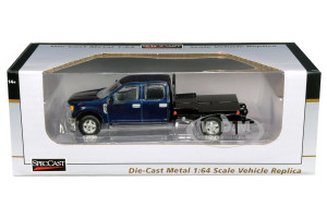 Ford F-250 Truck Flatbed Metallic Blue 1/64 Diecast Model Car SpecCast 52613