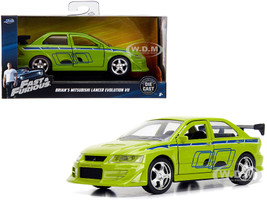 Brian's Mitsubishi Lancer Evolution VII Green Fast & Furious Movie 1/32 Diecast Model Car Jada 99789
