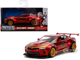 2016 Chevrolet Camaro Iron Man Theme Marvel Series 1/32 Diecast Model Car Jada 30298