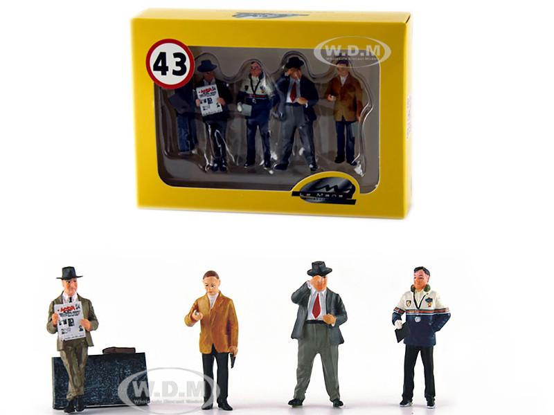 Four Team Managers Set 4 Figurines 1/43 Diecast Model Cars Le Mans Miniatures 43002M