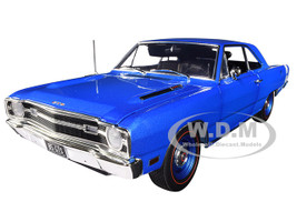 1969 Dodge Dart GTS 440 B5 Blue Metallic White Stripe Limited Edition 666 pieces Worldwide 1/18 Diecast Model Car ACME A1806402