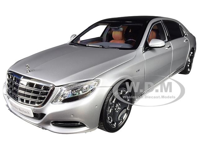 2016 Mercedes Benz Maybach S Class Iridium Silver 1/18 Diecast Model Car Almost Real 820103