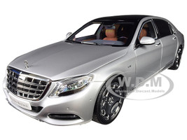 2016 Mercedes Benz Maybach S Class Iridium Silver 1/18 Diecast Model Car Almost Real 820103