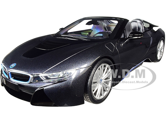 2018 BMW i8 Roadster Dark Gray Metallic Limited Edition 504 pieces Worldwide 1/18 Diecast Model Car Minichamps 155027030