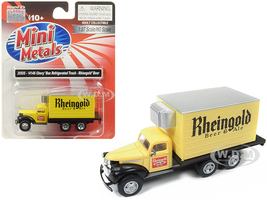 1941 1946 Chevrolet Box Reefer Refrigerated Truck Rheingold Beer & Ale Yellow 1/87 HO Scale Model Classic Metal Works 30505
