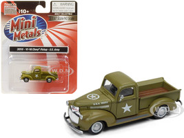 1941 1946 Chevrolet Pickup Truck US Army 1/87 HO Scale Model Car Classic Metal Works 30516
