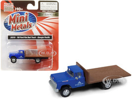 1960 Ford Flatbed Truck Georgia Pacific Blue 1/87 HO Scale Model Classic Metal Works 30519