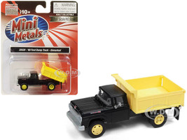 1960 Ford Dump Truck Black Yellow 1/87 HO Scale Model Classic Metal Works 30528