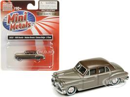 1950 DeSoto Nubian Bronze Samoa Beige Top 1/87 HO Scale Model Car Classic Metal Works 30532