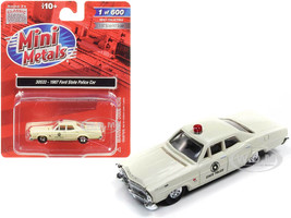 1967 Ford State Police Car Cream 1/87 HO Scale Model Car Classic Metal Works 30533