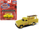 1954 Ford Hi-Rail Truck Erie Lackawanna Yellow with Accessories 1/87 HO Scale Model Classic Metal Works 30539